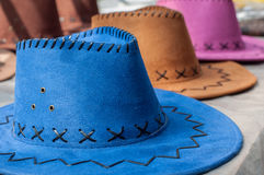 Πολύχρωμο καπέλο τρία Στοκ φωτογραφία με δικαίωμα ελεύθερης χρήσης