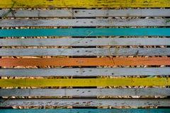 Πολύχρωμο ξύλινο υπόβαθρο Στοκ Εικόνες