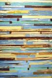 Πολύχρωμο παλαιό ξύλινο υπόβαθρο Στοκ Εικόνες