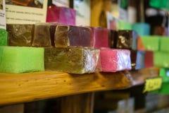 Πολύχρωμο σαπούνι στο κατάστημα στη Λάρνακα, Κύπρος Στοκ Εικόνα