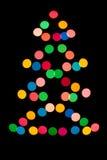 Πολύχρωμο χριστουγεννιάτικο δέντρο φωτισμού Στοκ Εικόνα