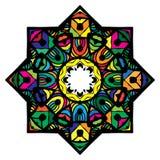 Πολύχρωμο mandala από ποικίλα φωτεινά στοιχεία Στοκ εικόνα με δικαίωμα ελεύθερης χρήσης