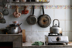 Πολύ βρώμικη κουζίνα Στοκ φωτογραφία με δικαίωμα ελεύθερης χρήσης