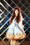 Πολύ ευγενές όμορφο κορίτσι στο ύφος ενός anime Στοκ εικόνα με δικαίωμα ελεύθερης χρήσης