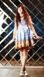 Πολύ ευγενές όμορφο κορίτσι στο ύφος ενός anime Στοκ φωτογραφίες με δικαίωμα ελεύθερης χρήσης