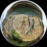 Πολύ ευρεία άποψη γωνίας του ποταμού φιδιών στο φαράγγι κολάσεων Στοκ Φωτογραφία
