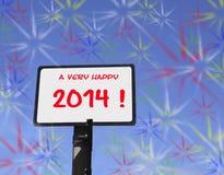 Πολύ ευτυχές το 2014 Στοκ φωτογραφίες με δικαίωμα ελεύθερης χρήσης
