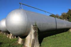 πολύ μεγάλο δοχείο πίεσης για την αποθήκευση του φυσικού αερίου Στοκ φωτογραφία με δικαίωμα ελεύθερης χρήσης