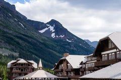 Πολύ ξενοδοχείο παγετώνων στο εθνικό πάρκο παγετώνων Στοκ Εικόνες