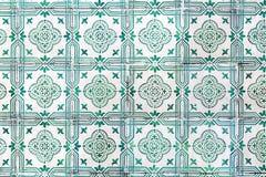 Πολύ παλαιά πράσινα azulejos - κεραμίδια από τη Λισσαβώνα, Πορτογαλία Στοκ Εικόνα