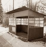 Πολύ παλαιός σταθμός τρόπων στοκ φωτογραφία με δικαίωμα ελεύθερης χρήσης