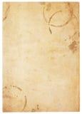 Πολύ παλαιό κενό έγγραφο με τους λεκέδες καφέ Στοκ εικόνες με δικαίωμα ελεύθερης χρήσης