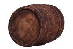 Πολύ παλαιό ξύλινο βαρέλι με τις σκουριασμένες συναρμολογήσεις Στοκ Εικόνες