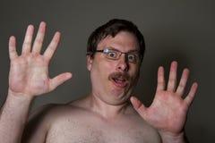 πολύ συγκλονισμένο άτομο στοκ φωτογραφίες με δικαίωμα ελεύθερης χρήσης