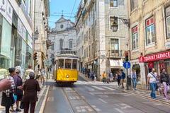 Πολύ τουριστικό μέρος στο παλαιό μέρος της Λισσαβώνας, Πορτογαλία, Ευρώπη Στοκ φωτογραφία με δικαίωμα ελεύθερης χρήσης