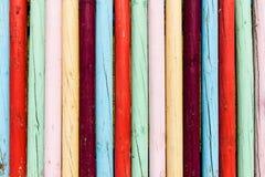 Πολύ φωτεινός και ζωηρόχρωμος ξύλινος φράκτης στη Μαδέρα Στοκ Εικόνες