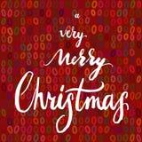 Πολύ Χαρούμενα Χριστούγεννα Ελεύθερη απεικόνιση δικαιώματος