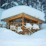 Πολύ χιόνι Στοκ Φωτογραφία