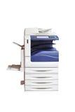 Πολλών χρήσεων εκτυπωτής λέιζερ, ανιχνευτής, Xerox, στο λευκό Στοκ φωτογραφία με δικαίωμα ελεύθερης χρήσης