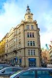 24 01 2018 Πράγα, Δημοκρατία της Τσεχίας - ένα όμορφο παλαιό σπίτι Στοκ φωτογραφίες με δικαίωμα ελεύθερης χρήσης