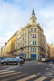 24 01 2018 Πράγα, Δημοκρατία της Τσεχίας - ένα όμορφο παλαιό σπίτι Στοκ Φωτογραφία