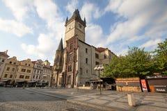 Πράγα, Δημοκρατία της Τσεχίας, στις 22 Απριλίου 2019 - άποψη της πρωινής ηλιόλουστης Πράγας Παλαιά Πράγα, κέντρο της πόλης στοκ εικόνες με δικαίωμα ελεύθερης χρήσης