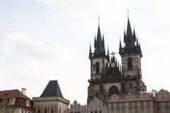 Πράγα, Δημοκρατία της Τσεχίας, στις 22 Απριλίου 2019 - άποψη της πρωινής ηλιόλουστης Πράγας Παλαιά Πράγα, κέντρο της πόλης στοκ εικόνα