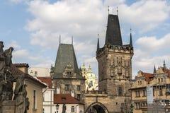 Πράγα, Δημοκρατία της Τσεχίας, στις 22 Απριλίου 2019 - άποψη της πρωινής ηλιόλουστης Πράγας Παλαιά Πράγα, κέντρο της πόλης στοκ φωτογραφία