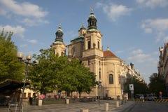 Πράγα, Δημοκρατία της Τσεχίας, στις 22 Απριλίου 2019 - άποψη της πρωινής ηλιόλουστης Πράγας Παλαιά Πράγα, κέντρο της πόλης στοκ εικόνες