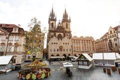 Πράγα, Δημοκρατία της Τσεχίας, στις 22 Απριλίου 2019 - άποψη της πρωινής ηλιόλουστης Πράγας Παλαιά Πράγα, κέντρο της πόλης στοκ φωτογραφίες