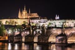 Πράγα, Δημοκρατία της Τσεχίας, στις 22 Απριλίου 2019 - άποψη του βραδιού Πράγα Λυκόφως στην Πράγα στοκ εικόνες