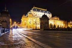 Πράγα, Δημοκρατία της Τσεχίας, στις 22 Απριλίου 2019 - οδοί βραδιού της Πράγας στοκ φωτογραφίες