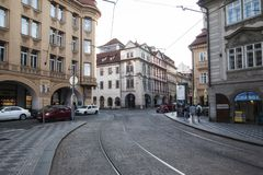 Πράγα, Δημοκρατία της Τσεχίας, στις 22 Απριλίου 2019 - οδοί της παλαιάς πόλης στην Πράγα στοκ φωτογραφίες