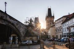 Πράγα, Δημοκρατία της Τσεχίας, στις 22 Απριλίου 2019 - οδοί της παλαιάς πόλης στην Πράγα στοκ εικόνα με δικαίωμα ελεύθερης χρήσης