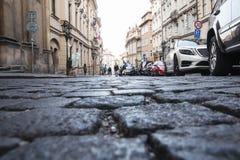 Πράγα, Δημοκρατία της Τσεχίας, στις 22 Απριλίου 2019 - οδοί της παλαιάς πόλης στην Πράγα στοκ εικόνες