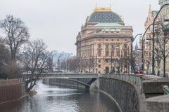 Πράγα, Δημοκρατία της Τσεχίας, το εθνικό θέατρο Στοκ Εικόνα