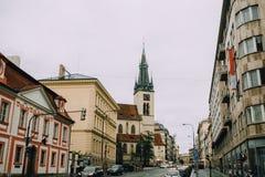 Πράγα, Δημοκρατία της Τσεχίας - το Μάιο του 2014 Εκκλησία του ST Stepan στο ιστορικό κέντρο της πόλης Στοκ φωτογραφίες με δικαίωμα ελεύθερης χρήσης
