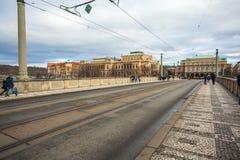 24 01 2018 Πράγα, Δημοκρατία της Τσεχίας - Rudolfinum που χτίζει τον Ιανουάριο το Π Στοκ εικόνα με δικαίωμα ελεύθερης χρήσης