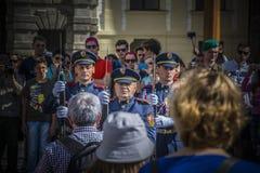Πράγα - η φρουρά του γραφείου του Προέδρου της Δημοκρατίας Στοκ Φωτογραφίες