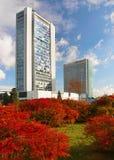 Πράγα, ουρανοξύστες Στοκ Εικόνες