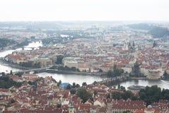 Πράγα. Πανοραμική άποψη Město Staré Στοκ Εικόνες