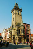 Πράγα, παλαιό Δημαρχείο με το αστρονομικό ρολόι Στοκ φωτογραφία με δικαίωμα ελεύθερης χρήσης