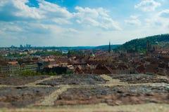 Πράγα που βλέπει από το φρούριο Στοκ φωτογραφία με δικαίωμα ελεύθερης χρήσης