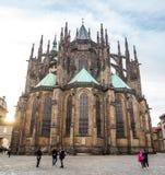 24 01 2018 Πράγα, τσεχικό Rebublic - ο καθεδρικός ναός των Αγίων Vitu Στοκ φωτογραφία με δικαίωμα ελεύθερης χρήσης