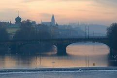Πράγα cesky τσεχική πόλης όψη δημοκρατιών krumlov μεσαιωνική παλαιά στοκ εικόνες με δικαίωμα ελεύθερης χρήσης