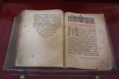 Πράξεις και επιστολές των αποστόλων, ή ο απόστολος ` `, στο μοναστήρι του Savior μας και το ST Euthymius στην πόλη του Σούζνταλ στοκ φωτογραφίες