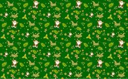Πράσινα άνευ ραφής διανύσματα υποβάθρων σχεδίων Χριστουγέννων, συλλογή των κιβωτίων το απλό χέρι διακοσμήσεων που σύρεται με στοκ εικόνες