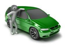 πράσινα άτομα αυτοκινήτων Στοκ Φωτογραφίες