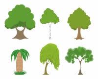 Πράσινα δέντρα καθορισμένα Στοκ φωτογραφίες με δικαίωμα ελεύθερης χρήσης