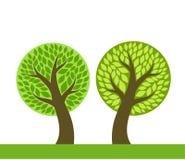 πράσινα δέντρα δύο διανυσματική απεικόνιση